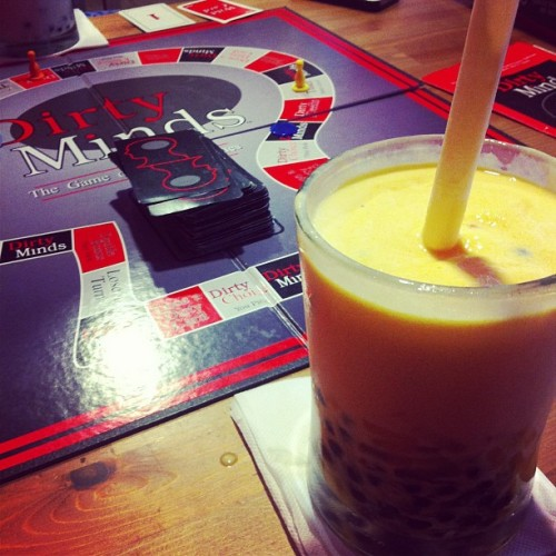 Bubble tea and board games #toronto #bloorwest #bubbletea #games