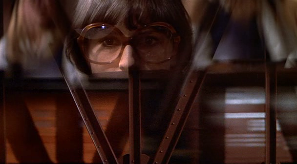 "supervillain: The Fury (1978), directed by Brian De Palma. Another cap from the night I decided ""let's obsess over The Fury forever"". It's five or so great movies all in service of a specific story - there's a Carrie by way of Mean Girls high school movie, a psychic warfare movie that paves the way for Scanners, a coming of age X-Men type thing, a love story turned sour, a cat and mouse spy thriller, and a blood and thunder big budget effects movie. It has these amazing performances and one really bad one that hinges too much on it, and it uses it's locations in a smart, thoroughly engaging way few movies do. But it is also a De Palma movie, stacked deep in technical brilliance, set pieces, visual magic tricks, violence that takes me aback even today, and the most venal psychic sequences possible. What De Palma does with it… it kind of lives in the space where the stars are old men battling using teenagers as weapons, and he picked exactly the right guys to play the old men. Kirk Douglas and John Cassavettes are at the cusp of aging out of their star status - and this movie not doing well actually helped that happen. Because it's them, it adds so much weight to a movie that already does so much - and the way that Douglas has no ego about how he appears onscreen, it totals up to be one of De Palma's best. Every time I see it I admire it more. I think he has movies that hit me closer and that are better stories, but this one is special."