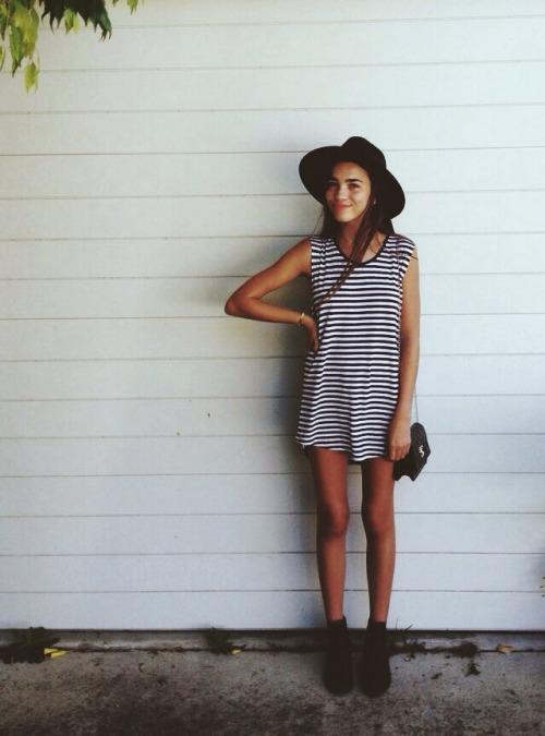 Summer Boho Indie Grunge Outfits Stripes Boho Chic Chromeyouth U2022