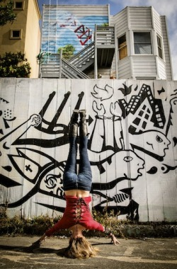 :: headstand in the street