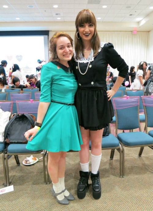 my favorite human being on earth, alyssa and i <3 at the 2013 lolita con