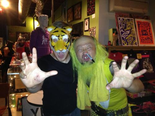 Peelander-Z + MAN-CAT = forever bros
