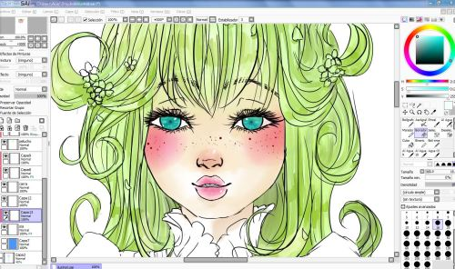 zerohidari:  W.i.p. This is the wip of my collab with Mirai Webzine. Coloring it's hard work with this style =3=;;