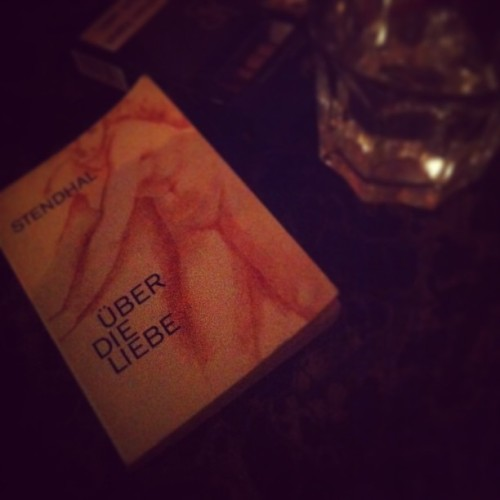 a #moment on the table. #books #night #drinks #stendhal #about