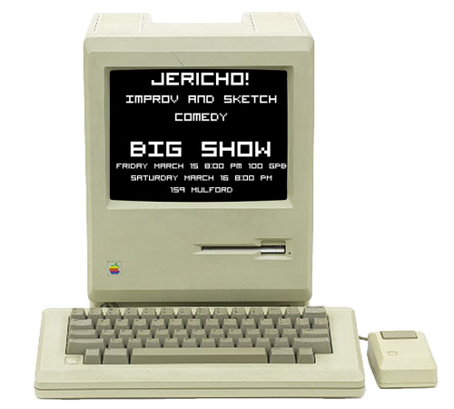 3/15-16. jericho! Improv & Sketch Comedy @ UC Berkeley. 8PM. $4.   Get ready for jericho!'s first Big Show of the semester, JERICHO! 2.0! (Updates Available)Date Available/Location of Update:Friday March 15, 2013 at 8:00 PM - 100 GPBSaturday March 16, 2013 at 8:00 pm - 159 MulfordTickets $4Some features of this update: Awesome videos, clever sketches, hilarious guerrillas, and - of course - improv!See you there!