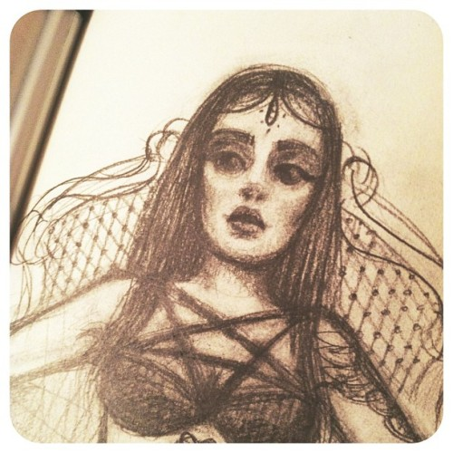 Working out a few ideas for a new #portrait of this dark heart @reneeruin - #keeptheballrolling #pencil #sketch #yelley #art #commission