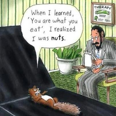 "Another one for Funny Friday! ""Like"" if you're a bit ""nutty."""