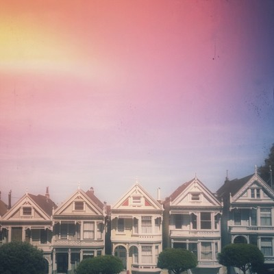 full housin' it at alamo square with @bonjourlove. (at Painted Ladies)