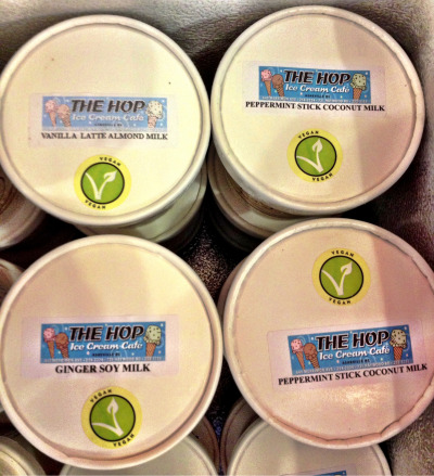 hopicecream:  Vegan Ice Cream pint flavors in the UNC Asheville Highsmith Student Union… :)  I want this magical ice cream to make it's way over to the East Bay. I need more dairy-free options when it comes to frozen desserts!