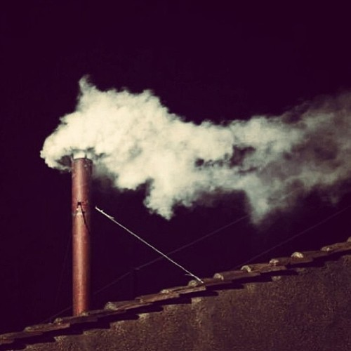 dude… white smoke…
