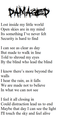 Poem i wrote to put in the CD case when floods is released tomorrow!!