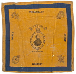 (via Early Irish Silk Political Flag, William Johnston of Bally Kilbeg, 1867 - Cowan's Auctions)