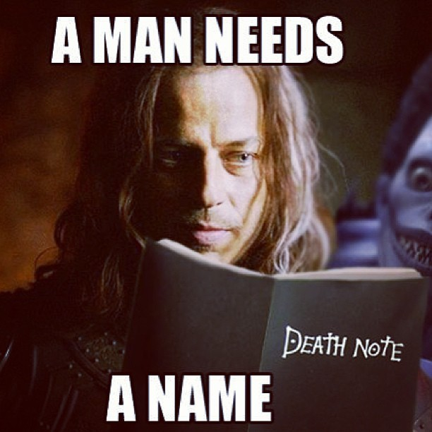 thor-loki:  This cracked me up lol #got #gameofthrones #deathnote #like #follow  Goddammit Jaqen. I KNEW IT
