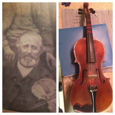driftingsailor:  Today, I received a very special gift. This violin Belonged to my great great great Grandfather from england. It has been passed down through the family and today it was handed to me. It's so surreal to know the history behind this instrument.  plus it sounds awesome k bye