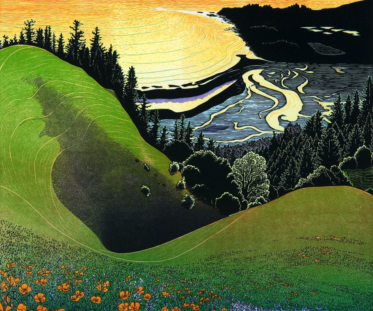 lifeinfluxus:  Bolinas Ridge Sunset - Tom Killion (2009)