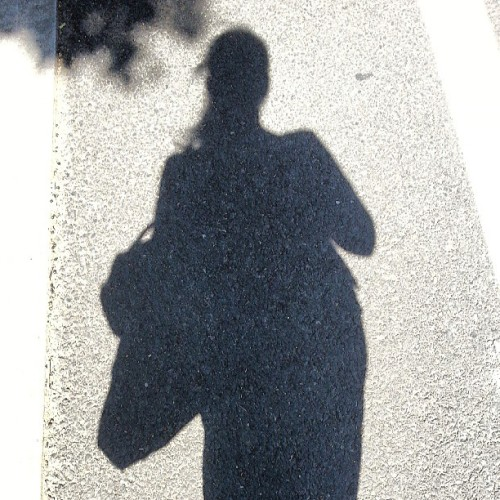 Standing in the sun trying to get my warm on. #cold #whereissummer #cantwaittogettowork