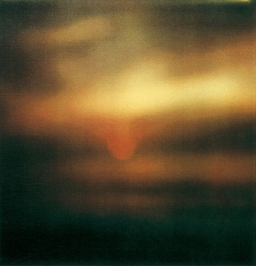 Cy Twombly - Sunset, Gaeta, 2009. Photography, Dryprint on cardboard.