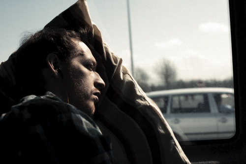 showmeyourhateface:  The drive from Vienna to Munich. Pillows tend to come in handy.  April 2013 ©2013 Matthew Davies-Kreye