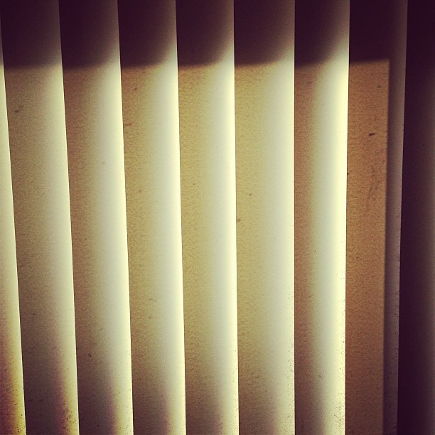 #blinds #sun #afternoon #shadow #dark #yellow #white #old