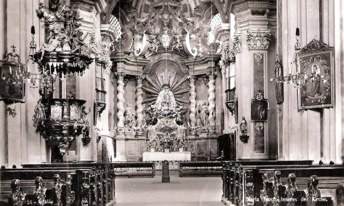 Maria Trost The interior of the pilgrimage church of Our Lady of Consolation in Graz, Austria.