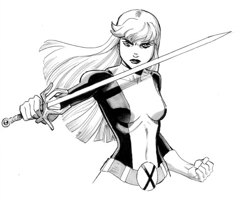 Magik in her New Mutants gear. I'll be at NYCC: Special Edition this weekend! I'll be selling comics and prints, and doing commissions as usual. Hit me up in artist's alley at table B16! Here's more info. Also, for anyone going to Heroes Con in North Carolina next week, I'll be there too! But I don't have a table. I'll just be wandering the floor enjoying the show as a guest for a change. But that doesn't mean I can't do drawing for you guys if you want them! Hit me up before hand, at reillybrownsketches@yahoo.com and we'll arrange something, or if that fails, I'll probably be crashing at my boy Khary Randolph's artist alley table. One way or another we can figure something out.More info on Heroes Con— http://www.heroesonline.com/heroescon/My sketch prices are $50 for a head sketch $100 for a half figure (like the one above)$200 for a full figureHope to see you at one convention or the other!