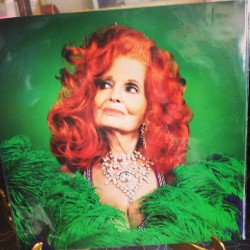 Ah! Tempest Storm posing with my feather fans on the cover of her collab with Jack White! #burlesque #thirdman
