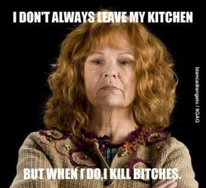 You just know Molly Weasley's parenting book would be badass.  Fictional Mothers Whose Parentings Books Would Rock