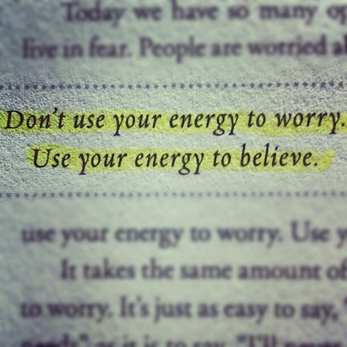 "spiritualinspiration:  Give all your worries and cares to God, for he cares about you (1 Peter 5:7, NLT.)  God desires to take care of whatever may be concerning you today. He invites you to give your worries and cares to Him simply because He loves you!  How do you give Him your cares? First of all, understand that cares show up in your mind. When negative, self-defeating thoughts of worry come, you have to recognize them as cares and replace them with the Word of God. For example, if you are concerned about a need today, say out loud, ""My God shall supply all my needs according to His riches in glory."" If you have fear about something, say out loud, ""God has not given me a spirit of fear, but of power, love and a sound mind."" If you have sickness in your body, declare, ""By His stripes I am healed."" As you meditate on the truth and focus your heart and mind on the Father, those cares and concerns will disappear.  Then, thank Him for giving you peace and joy. Thank Him for working in your life. As you keep an attitude of faith and expectancy, give Him your worries and cares and get ready for the blessing He has for your future!"