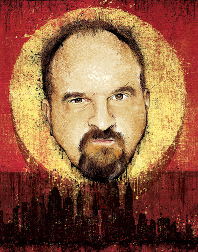 "boxingbearstudio:  ""After the Laughter""Jeff Mitchell, 2013 Louis CK and his love affair with the Big Apple. Buy here:Listing on EtsyListing on Reddit"