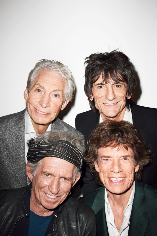 terrysdiary:  The Rolling Stones at my studio #2  They're on the cover of the last Rolling Stones issue I got in the mail. Charlie Watts is so adorable. I wish he was my grandpa.Keith Richards got mad swag doe.