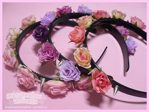 pastelbmob:  Spiked Rose Headbands $14