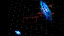 "astrodidact:  Astronomers discover surprising clutch of hydrogen clouds lurking among our galactic neighbors Scientists were able to detect discrete concentrations of neutral hydrogen emerging out of what was thought to be a mainly featureless field of gas between the Andromeda and Triangulum galaxies. In a dark starless patch of intergalactic space, astronomers have discovered a never-before-seen cluster of hydrogen clouds strewn between two nearby galaxies, Andromeda (M31) and Triangulum (M33). The researchers speculate that these rarefied blobs of gas — each about as massive as a dwarf galaxy — condensed out of a vast and as-yet undetected reservoir of hot ionized gas, which could have accompanied an otherwise invisible band of dark matter.The astronomers detected these objects using the National Science Foundation's Green Bank Telescope (GBT) at the National Radio Astronomy Observatory (NRAO) in Green Bank, West Virginia.""We have known for some time that many seemingly empty stretches of the universe contain vast but diffuse patches of hot ionized hydrogen,"" said Spencer Wolfe of West Virginia University in Morgantown. ""Earlier observations of the area between M31 and M33 suggested the presence of colder neutral hydrogen, but we couldn't see any details to determine if it had a definitive structure or represented a new type of cosmic feature. Now, with high-resolution images from the GBT, we were able to detect discrete concentrations of neutral hydrogen emerging out of what was thought to be a mainly featureless field of gas.""Astronomers are able to observe neutral atomic hydrogen, which is referred to as HI, because of the characteristic signal it emits at radio wavelengths, which can be detected by radio telescopes on Earth. Though this material is abundant throughout the cosmos, in the space between galaxies it can be very tenuous and the faint signal it emits can be extremely difficult to detect.A little more than a decade ago, astronomers had the first speculative hints that a previously unrecognized reservoir of hydrogen lies between M31 and M33. The signal from this gas, however, was too faint to draw any firm conclusions about its nature, origin, or even certain existence. Last year, preliminary data taken with the GBT confirmed that there was indeed hydrogen gas — a lot of it — smeared out between the galaxies. These preliminary observations, however, lacked the necessary sensitivity to see any fine-grain structure in the gas or deduce where it came and what it signified. The most likely explanation at the time was that a few billion years earlier, these two galaxies had a close encounter and the resulting gravitational perturbations pulled off some wispy puffs of gas, leaving a tenuous bridge between the two.New and more thorough studies of this region with the GBT, however, revealed that the hydrogen gas was not simply in the form of wispy streamers, as would be expected by the interactions of two galaxies in a gravitational ballet. Instead, a full 50 percent of the gas was conspicuously clumped together into very discrete and massive blobs that — apart from their lack of stars — would be dead ringers for dwarf galaxies. Dwarf galaxies, as their name implies, are relatively small collections of stars bound together by gravity. They can contain anywhere from a few thousand to a few million stars.The GBT also was able to track the motion of these newly discovered clouds, showing that they were traveling through space at velocities similar to M31 and M33. ""These observations suggest that they are independent entities and not the far-flung suburbs of either galaxy,"" said Felix J. Lockman from the NRAO in Green Bank. ""Their clustered orientation is equally compelling and may be the result of a filament of dark matter. The speculation is that a dark matter filament, if it exists, could provide the gravitational scaffolding upon which clouds could condense from a surrounding field of hot gas.""The researchers also speculate that these clouds may represent a new and previously unrecognized source of neutral hydrogen gas that could eventually fall into M31 and M33, fueling future generations of star formation.The GBT, because of its enormous size, unique design, and location in the National Radio Quiet Zone of West Virginia, was able to detect this signal, which was simply too faint for other radio telescopes to detect with precision. ""The GBT is unique in this regard,"" said Lockman.Astronomers also are interested in these cold, dark regions between galaxies because there is a great deal of unaccounted normal matter in the cosmos, and a significant fraction may be contained in intergalactic clouds like the ones observed by the GBT. Further studies in this region and around other galaxies in our Local Group — the galaxies found relatively close to the Milky Way — may yield additional clues as to the amount of hydrogen yet to be accounted for in the universe.""The region we have studied is only a fraction of the area around M31 reported to have diffuse hydrogen gas,"" said D. J. Pisano of West Virginia University. ""The clouds observed here may be just the tip of a larger population out there waiting to be discovered."" http://www.astronomy.com/en/News-Observing/News/2013/05/Astronomers%20discover%20surprising%20clutch%20of%20hydrogen%20clouds%20lurking%20among%20our%20galactic%20neighbors.aspx"
