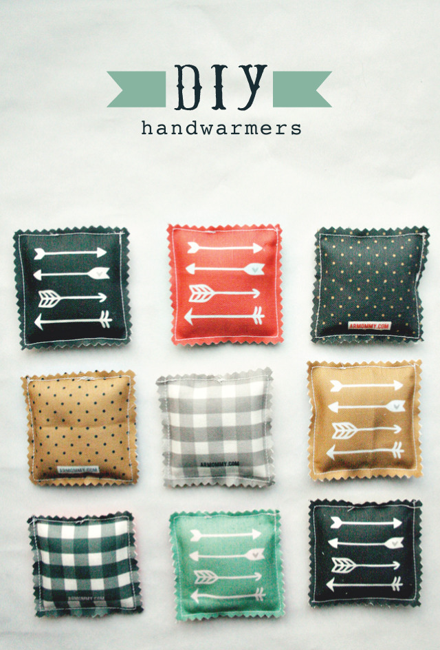 Homemade Hand Warmers | Armommy Every morning when I get up I check the weather on my phone. And then, just to torture myself, I check the weather in New York. Mmm. 2 Degrees celsius. So cold. Then I get up and go out into the world of 38 degrees celsius and melt into a big pool of sweat. So today I bring you my 'winter come now' DIY of little hand warmers. Pop them in the microwave while you make your coffee then into your jacket pocket so you can warm up your hands before your drive to work. Also good to stick in your gloves if you're not driving (just make sure they're not too hot!). And not only is this great tutorial easy to follow & make, they're super cute too!