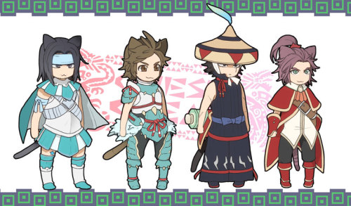 dynasty-warriors:  ~by 水澤スイ  Ohhh Dynasty Monster Hunter Warriors