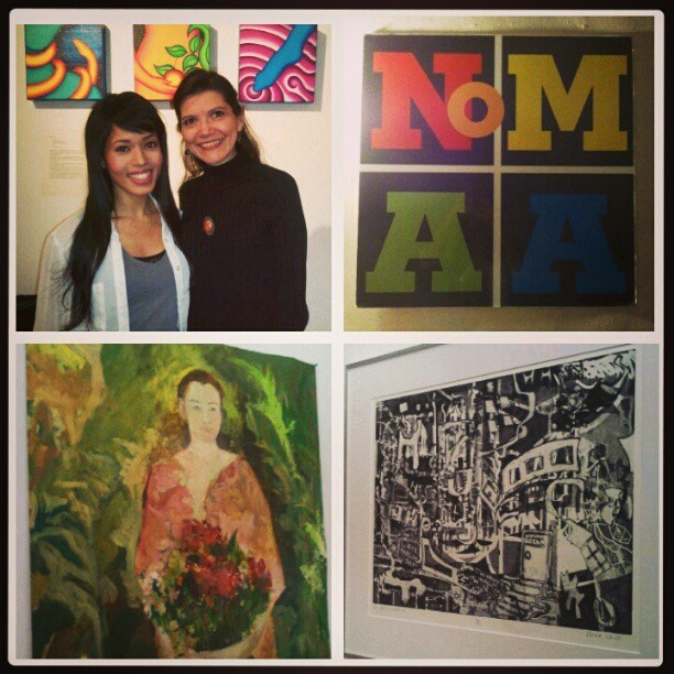 Gr8 time @ the @NoMAA_NYC #Women in the Heights #art #exhibit! Check it out until 4/18: http://bit.ly/VN9Ipr - W/curator #AndreaArroyo & art by Francoise van Dijk & Erica Criss :-) #paintings #mixedmedia
