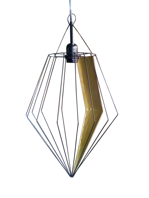 Hanging Lamp (Metal and Wire)