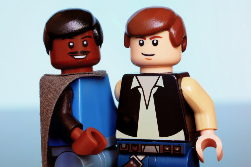 tiefighters:  Pals Lego Lando Calrissian and Han Solo Image by JoshuaDV (via:itlego)