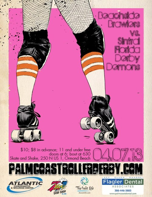goodwilltumbling:  Palm Coast Roller Derby takes on the Sintral Florida Derby Demons on April 7!