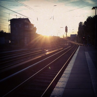 Sbahn sunset http://bit.ly/13kZTjt