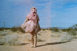 "Heather Bear. During Big Deals ""In Your Car"" video shoot in Joshua tree. Being super cute/creepy."