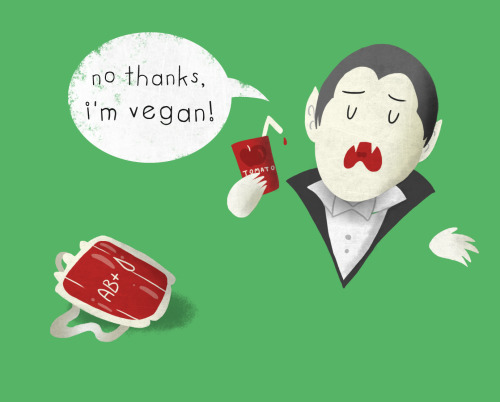 doodleigh:  No thanks, I'm vegan! VAMPIRE! shirts, pillows, more
