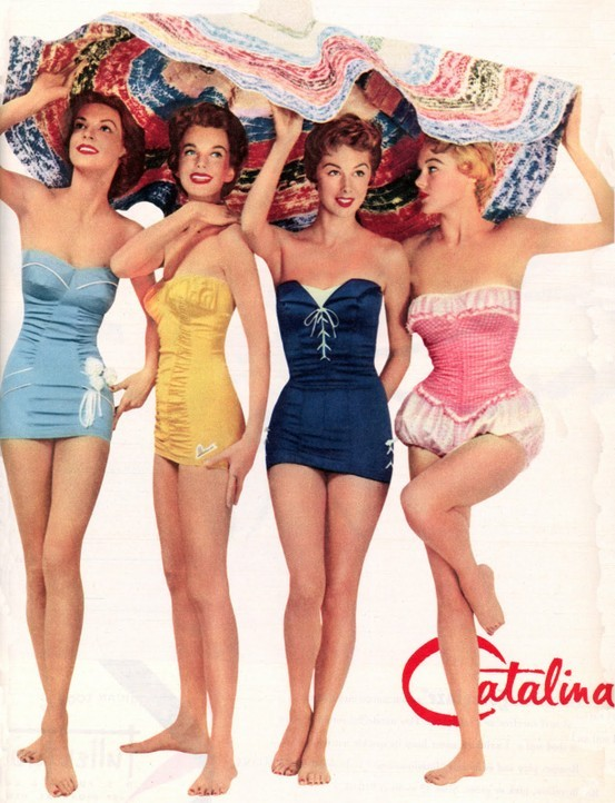 theniftyfifties:  Catalina swimwear, 1950.