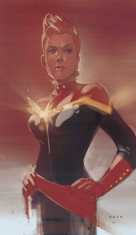 brianmichaelbendis:   Captain Marvel by Phil Noto