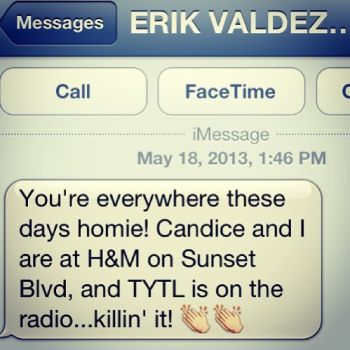 Good lookin out @erikvaldez @HM #LA #TooYoungToLove