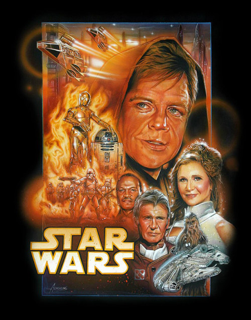 Conceptual Star Wars Episode VII poster with an aging cast By Adam Schickling