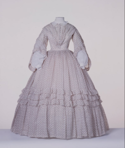 historicalfashion:  Cotton Dress | Centraal Museum | 1860