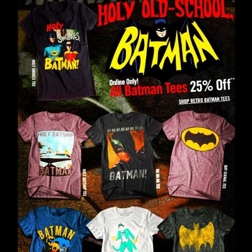 For all the multitudes of #BatFans! #HotTopics #OldSchool #Batman #tshirts… #nerd #geek #fashion #darkknight #dc #comics #capedcrusader #detectivecomics #tdkr #brucewayne #batfamily #familyofbats