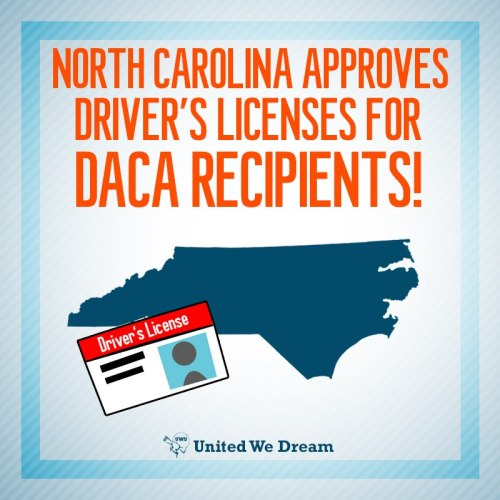 North Carolina to give driver's licenses to immigrants in Deferred Action program Read more here: http://www.miamiherald.com/2013/02/15/3236078/nc-to-give-drivers-licenses-to.html#storylink=cpy