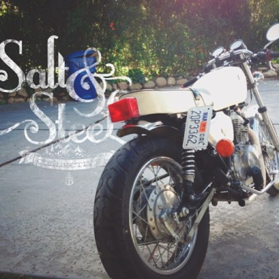 saltandsteel:  Side Project || Final Details > #kawasaki #cbr305 #caferacer #project #finaldetails #almostdone #brosisproject #cali_igers #dowhatyoulove #adventure #explore #travel #CC #sblife #ride #motorcycle