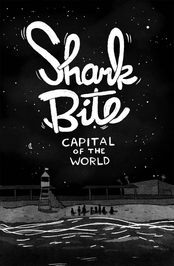 "Monday morning reblog! Buy my comic!  Shark Bite Capital of the world is printed and ready to ship! Big big thank yous to everyone who has been following my progress on the blog. I sure hope you'll like my comic.Get your copy now at the brand new drawstore, at http://drawstore.storenvy.com. To see some bits and pieces of the comic, check out the ""Shark Bite Capital of the World"" tag on this tumblr."